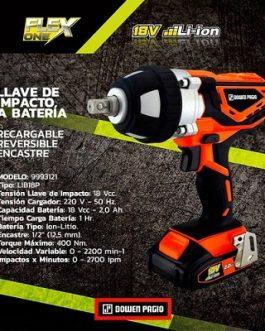 LLAVE DE IMPACTO A BATERIA 18V ENC. 1/2 DOWEN PAGIO