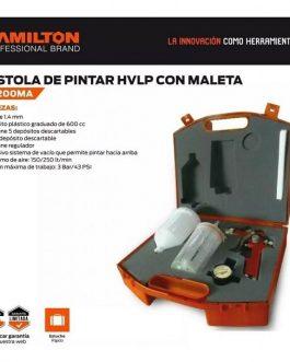 PISTOLA PARA PINTAR CON MALETIN Y ACCESORIOS PG200MA HAMILTON