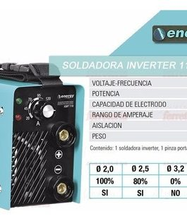 SOLDADORA INVERTER 110 AMP. ENERGY