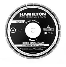 DISCO DIAMANTADO HORMIGON CURADO 350MM HAMILTON