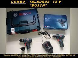 COMBO  2 TALADROS a batería 12 V ION DE LITIO, 1 BARE TOOLS + CAJA BOXX BOSCH