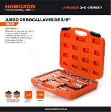 JUEGO BOCALLAVES 3/8 MM 36 PIEZAS HAMILTON