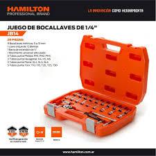 Juego De Bocallaves Milimétricas Encastre 3/4″ Por 21 Pzas. HAMILTON