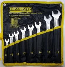Juego 8 Llaves Combinadas Milimetricas 8 – 19 Mm Crossman