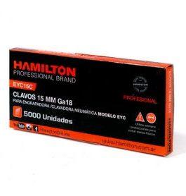 Clavos 15mm Caja Por 5000 Unid. HAMILTON