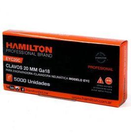 Clavos 20mm Caja Por 5000 Unid. HAMILTON