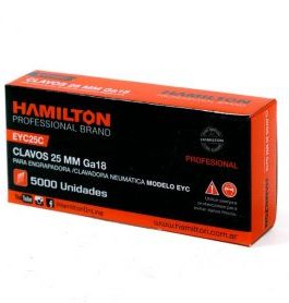 Clavos 25mm Caja Por 5000 Unid. HAMILTON