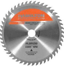 Disco Sierra Circular 255mm 48 Dientes HAMILTON