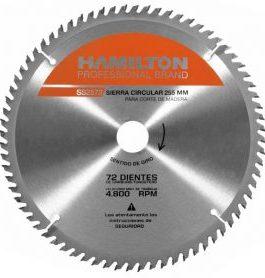 Disco Sierra Circular 255mm 72 Dientes HAMILTON